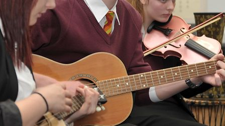 Music workshop at Neale Wade academy. March. Picture: Steve Williams.