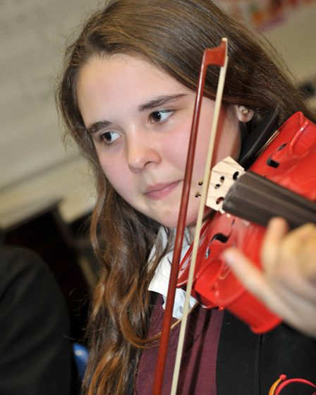 Music workshop at Neale-Wade academy. March. Picture: Steve Williams.