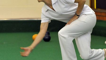 County bowls.Wisbech indoor bowls club. Chris Wadlow. Picture: Steve Williams.