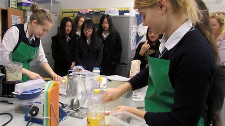 Students enjoy the Shake up Your Wake up initiative in Ely