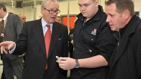 Official opening by the Lord Lieutenant of Cambridgeshire at the Technology Centre Isle College Wisb