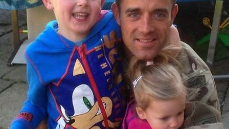 Richard Hayden with Alfie and Holly.