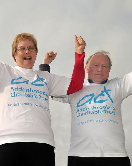Jackie and Robert Read Sky Dive for charity. Picture: Steve Williams.