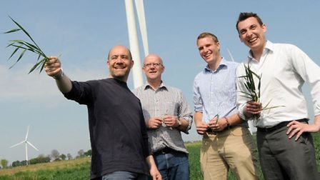 Defra team visits The Co-operative's Coldham farm. left: Lord Jim Knight, the opposition spokesperso
