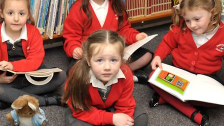 Townley Primary School, Christchurch. School got glowing Ofsted. Reception class one in the library.