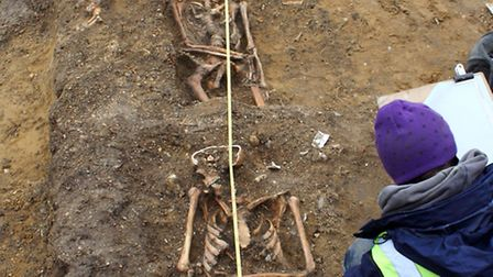 A team of archaeologists from Pre-Construct Archaeology carried out an excavation within the village
