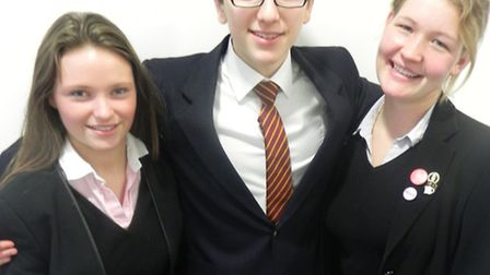 Felsted musicians impressed in a national competition, from left, Olivia Schwier, Pascal Rubinstein