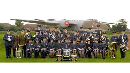 The RAF Wyton Big Band performed at the Valentines concert.
