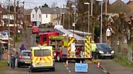 Emergency crews were called to a two-vehicle collision in Norwood Road, March. Picture: GERRY WOOD