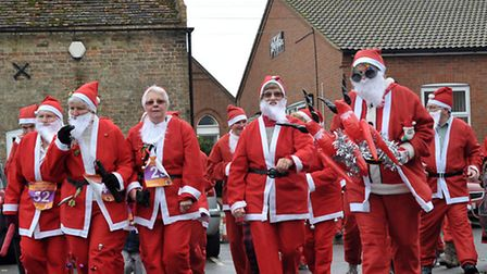 March Santa Run for the East Anglia's Children's Hospices (EACH). Picture: Steve Williams.