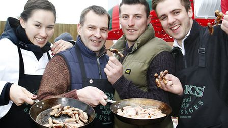 The best of British sausages from Husks of Newmarket, Suffolk whos senior operations manager, Tony T