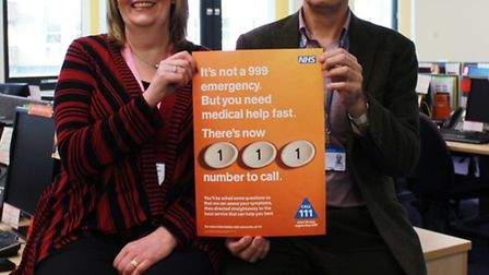 Sally Harrison, call centre manager, at Herts Urgent Care and Dr Andrew Anderson, 111 clinical lead,