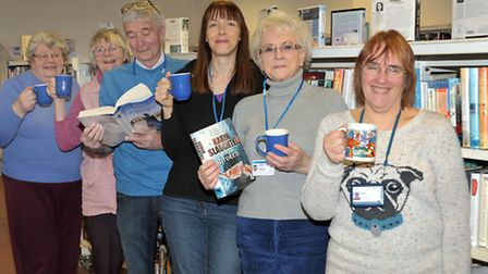 National Library Day, Chatteris Library. Front: Janet Vinten library assistant and members of FROLIC