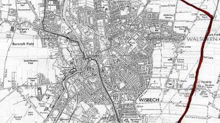 Daniel Noone's suggested route for a new bypass for Wisbech.