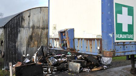 Charity sending stuff to Chernobyl but now affected by fire. Picture: Steve Williams.
