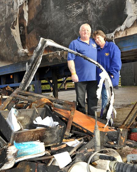 Charity sending stuff to Chernobyl but now affected by fire. John and Pauline Rotman. Picture: Stev