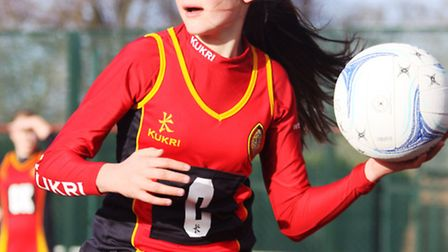 Second team player Hettie West making a shoulder pass. Picture: TIM CHAPMAN