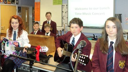 Musical students are holding lunchtime concerts at The Helena Romanes School, in Great Dunmow.