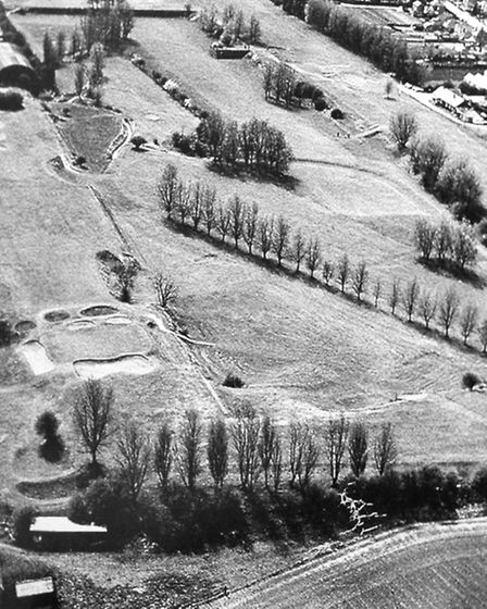 A centenary flag was raised at Sutton Bridge Golf Club. Picture: Aerial view of the golf club from t