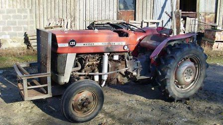 One of the two tractors that were stolen from a shed in Upwell.
