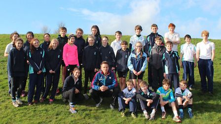 Olympian Paul Evans with King's Ely pupils