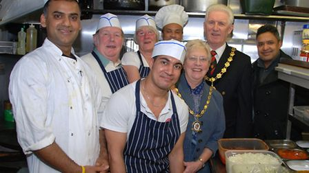 The Mayor and Mayoress, Phil and June Milne, dropped into the Pride of Sylhet Restaurant in Dunmow t