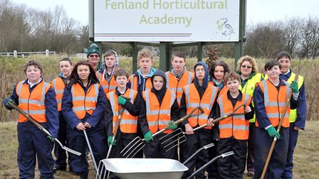First Thomas Clarkson students start at Delamore's new horticultural centre. Picture: Steve Williams