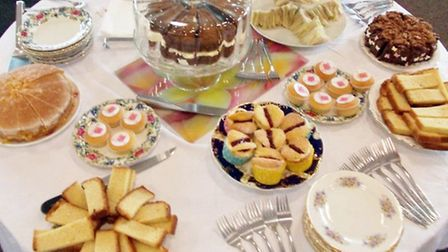 A variety of cakes are on offer following the tuition.