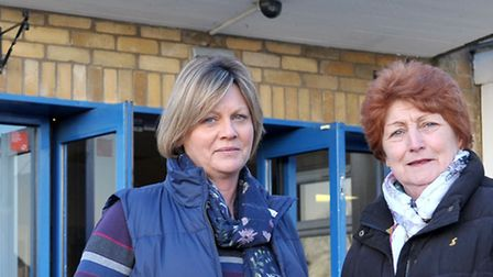 George Campbell's daughter Anne Gunn with Cllr Jan French.