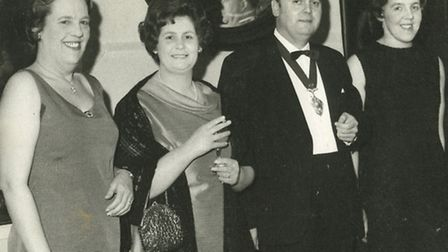 George Campbell with his wife Margaret, second left, at a civic function.