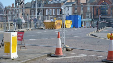 Wisbech Town bridge closed for works, Picture: Steve Williams.