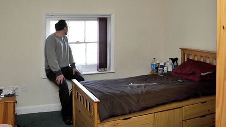 Ferry Project, Octavia View Wisbech, David in his room. Picture: Steve Williams.