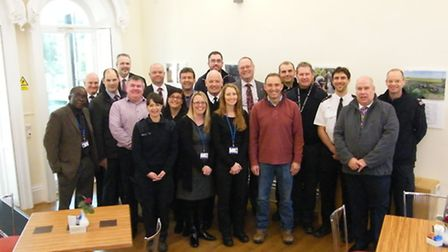 Staff and volunteers at the Ferry Project in Wisbech.