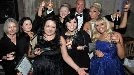 Ely Standard Business Awards 2013. The team from PA Answer Business of the year winners.