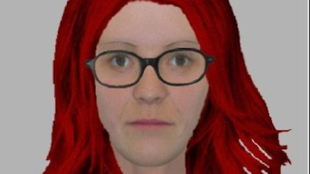Efit of female suspect in gunpoint robbery of a Braintree man's car.
