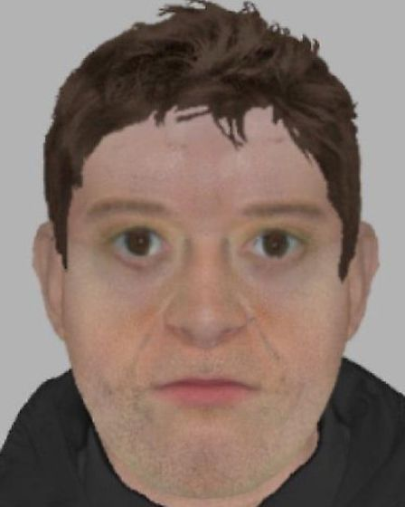 Efit of male suspect in gunpoint robbery of a Braintree man's car.
