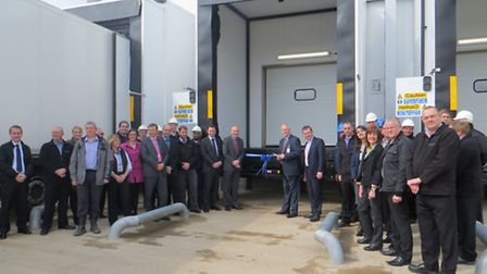 The new despatch area is unveiled.