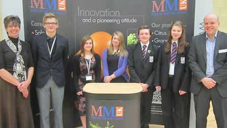 Cromwell Community College has teamed up with MM UK and MM Flowers on a business programme.