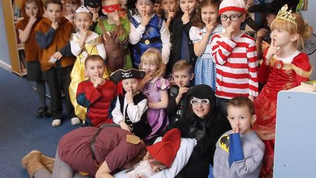 Leverington Primary Academy - Book Day. Snow White and the seven dwarves and the other of Class 2 an