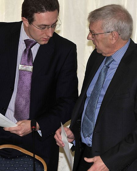 Phil Hatton with Ian Hunt, former legal chief at Fenland Hall