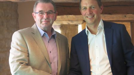 Richard Anderson on the right (Fenmarc managing director) with John Cook (Agrimarc).
