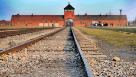 The end of the line - the railway track at the entrance to Birkenau. Picture: Kath Sansom.