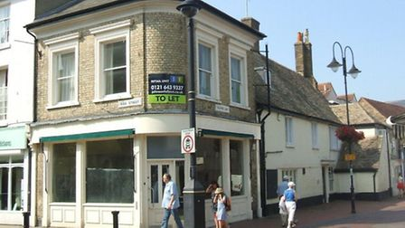 The former Starbucks outlet, in Ely.
