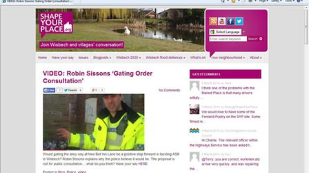 Gating order: Insp Robin Sissons outlines his thoughts on Shape Your Place