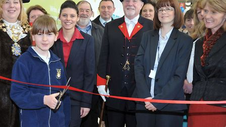 Community room opening at Tesco Cromwell road Wisbech. Nicole from Leverington primary academy opene