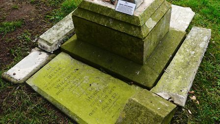 Wigginton memorial after it was dismantled by Fenland District Council