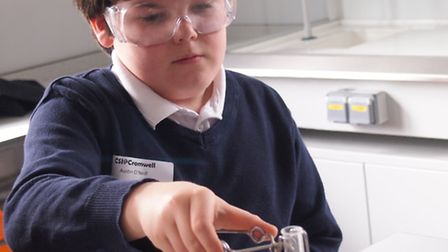 Pupils took part in a science day.