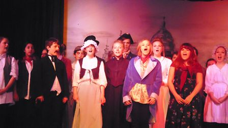 Production of Oliver at Witchford College