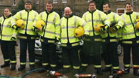 Cambridgeshire's 2013 on-call recruits. Picture: CAMBS FIRE AND RESCUE SERVICE