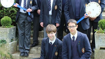 Students at Wisbech Grammar School win Maths Challenge awards. The Gold and Silver winners.